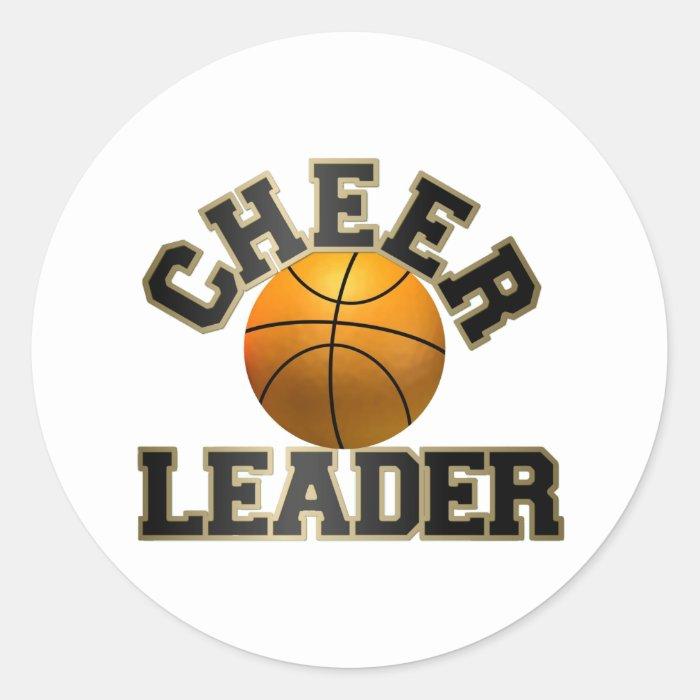 Basketball Cheerleader Classic Round Sticker