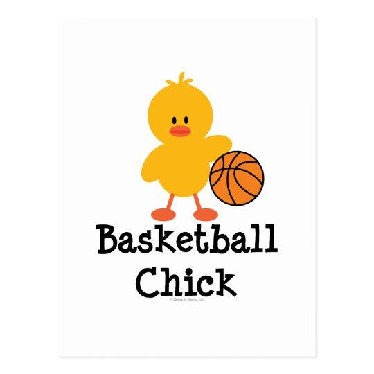 Basketball Chick Postcard