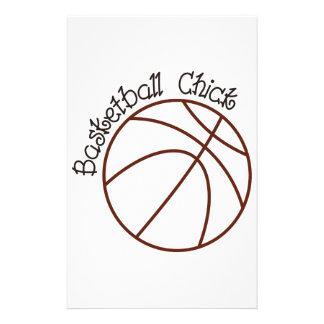 Basketball Chick Stationery