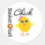 Basketball Chick Stickers