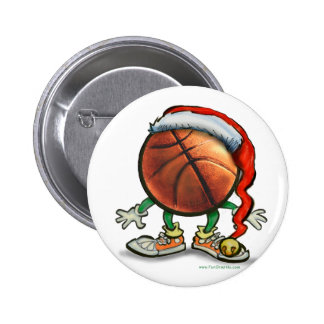 Basketball Christmas 2 Inch Round Button