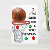 Basketball Christmas Card