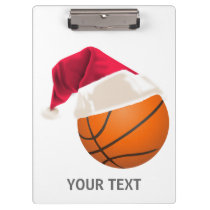 basketball christmas clipboard