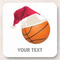 basketball christmas coaster