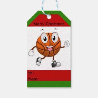 Basketball Christmas gift tag