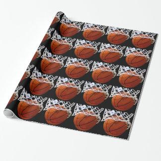 Basketball Christmas Gift Wrapping Paper