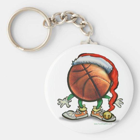 Basketball Christmas Keychain