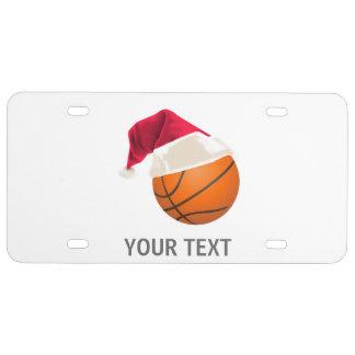 basketball christmas license plate