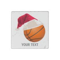 basketball christmas stone magnet