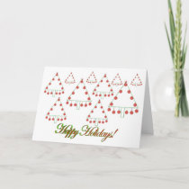 Basketball Christmas Tree Farm Card