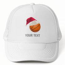 basketball christmas trucker hat