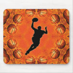 BASKETBALL CIRCLE AND PLAYER MOUSE PAD