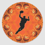 BASKETBALL CIRCLE AND PLAYER STICKERS