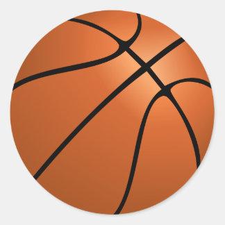 basketball circle stickers
