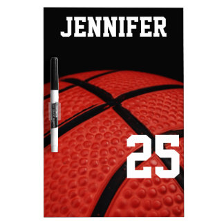Basketball Close-up custom name number Dry Erase Board