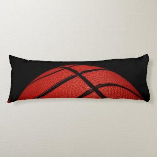 Basketball Close-up orange and black Body Pillow