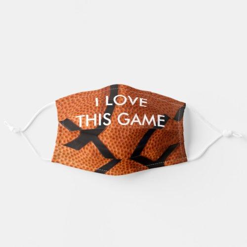 Basketball Close_up _ Popular Sports Art Cloth Face Mask