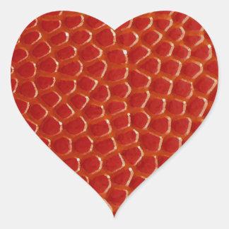 Basketball Close-up Texture Heart Sticker