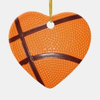 Basketball Close-Up Texture Skin Ceramic Ornament