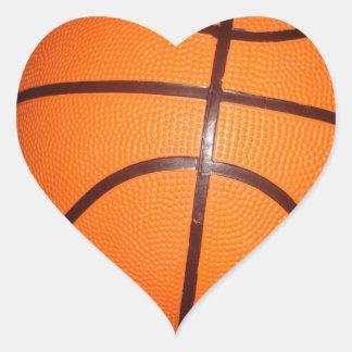 Basketball Close-Up Texture Skin Heart Sticker