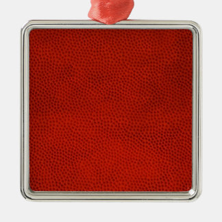 Basketball Close-Up Texture Skin Metal Ornament