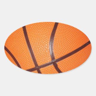 Basketball Close-Up Texture Skin Oval Sticker