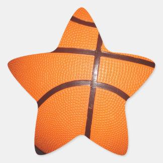 Basketball Close-Up Texture Skin Star Sticker