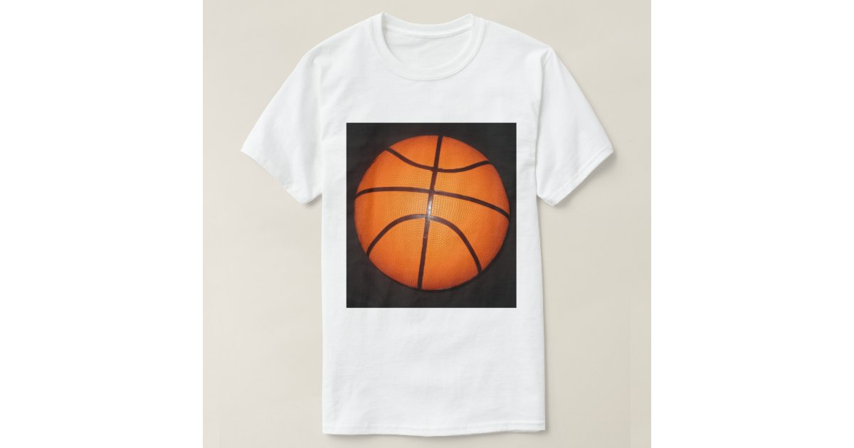 Basketball close up texture skin t shirt zazzle for Shirts and skins basketball
