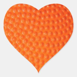 Basketball Closeup Skin Heart Sticker