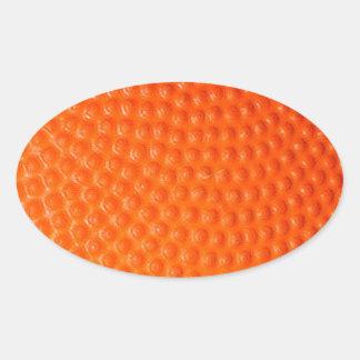 Basketball Closeup Skin Oval Sticker