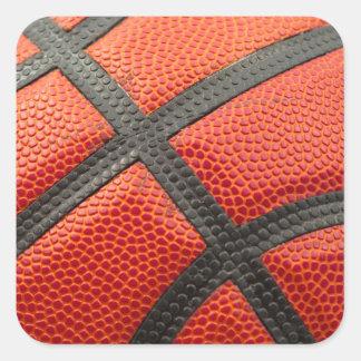 Basketball Closeup Square Sticker