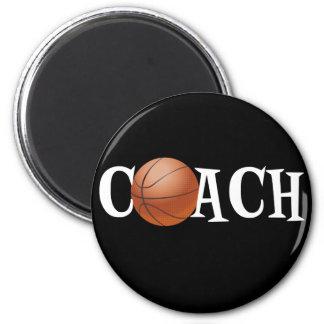 Basketball Coach 2 Inch Round Magnet