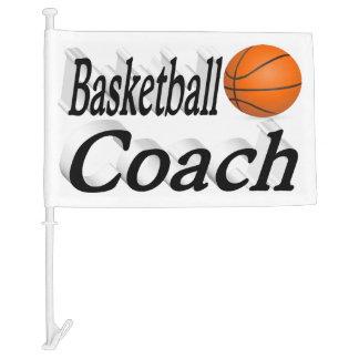 Basketball Coach 3D Car Flag