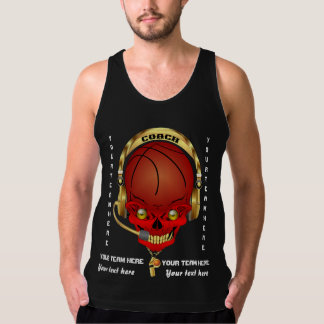 Basketball Coach All Styles Men Dark View Hints Tanks