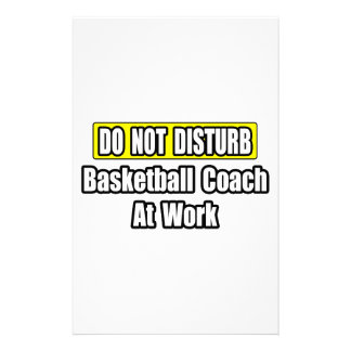 Basketball Coach At Work Customized Stationery