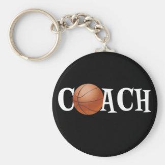 Basketball Coach Basic Round Button Keychain