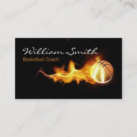 Basketball Coach Business Card 379889