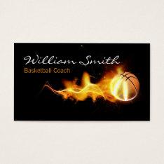 Basketball Coach Business Card at Zazzle