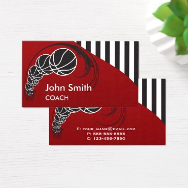Professional Business Basketball Coach Business Card