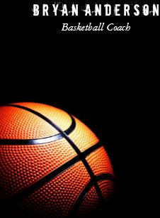 Basketball coach business cards templates zazzle basketball coach business card colourmoves