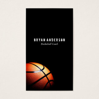 Basketball Coach Business Card at Zazzle