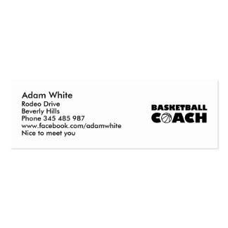 Basketball coach business cards