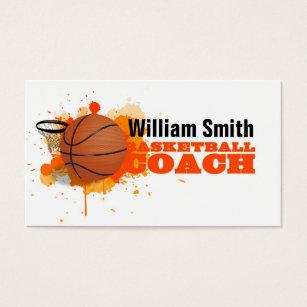 Basketball goal business cards templates zazzle basketball coach business card colourmoves