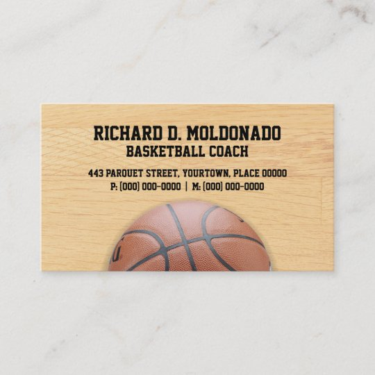 Basketball Coach Business Card Zazzle