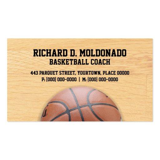 Basketball Coach Business Card Templates