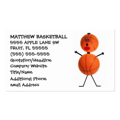 Basketball Coach Business Cards