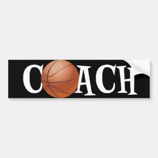 Basketball Coach Car Bumper Sticker
