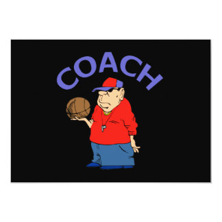 Basketball Coach Cartoon Card
