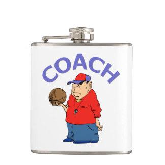 Basketball Coach Cartoon Flasks