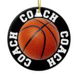 Basketball Coach Ceramic Ornament